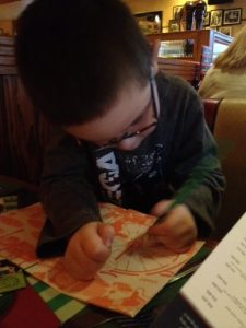 Drawing in Frankie and Benny's