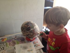 Painting the Paper Mache