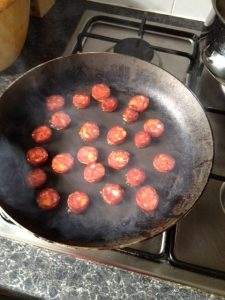 Chorizo Frying