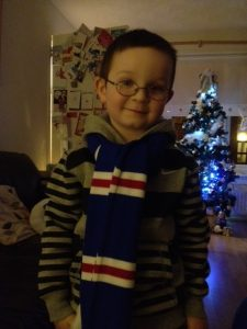 Boy in rangers scarf