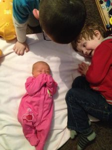 Baby Girl and Big Brothers