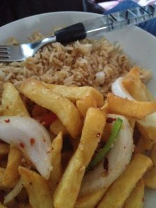 Fried Rice and Chilli Chips
