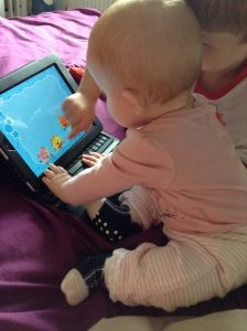 Baby on the iPad