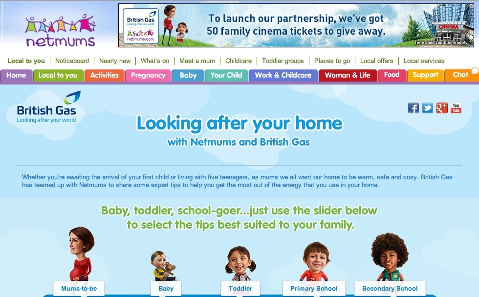 Netmums British Gas Website