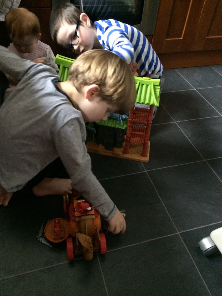 Boys playing together