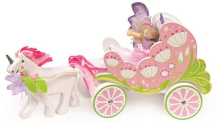 Carriage & Unicorn with Fairy