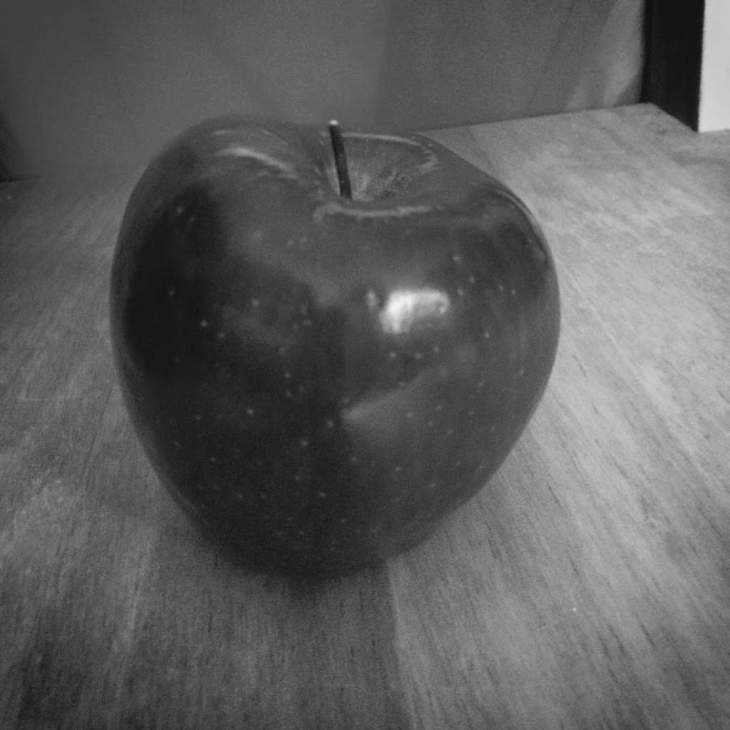 Black and White Apple